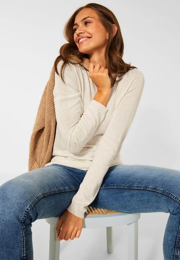 CECIL   Basic Pullover   Farbe: birch white melange 13223 , 301549
