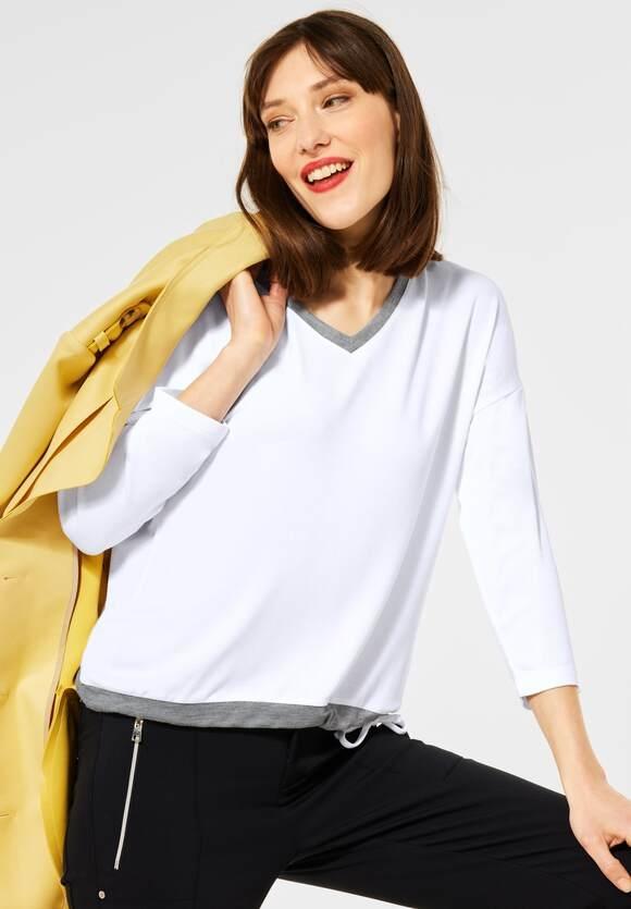 Street One   Shirt mit V-Ausschnitt   Farbe: white 10000, 316041