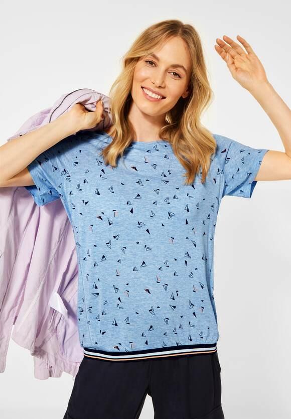 Cecil | T-Shirt mit Melange-Optik | Farbe: light blue melange 32356, 316064
