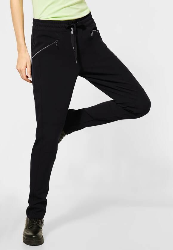 "Street One | Hose ""Bonny"" im Joggpants-Style | Farbe: black 10001, 373616"