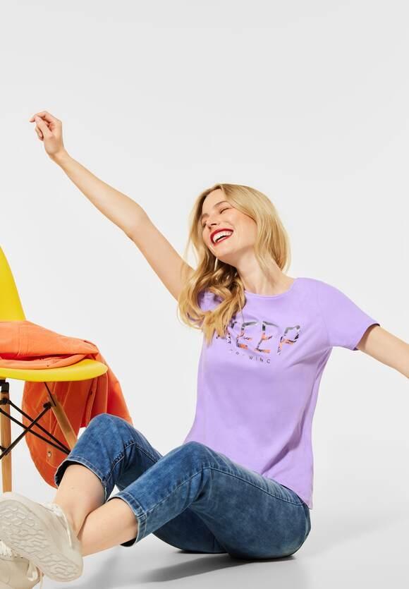 Street One   T-Shirt mit Partprint   Farbe: clear lilac 32898, 316070
