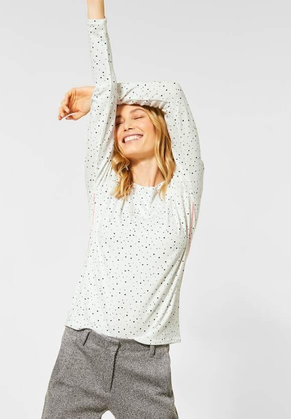 Cecil | Cosy Shirt mit Punkten | Farbe: pure off white 20125, 315606