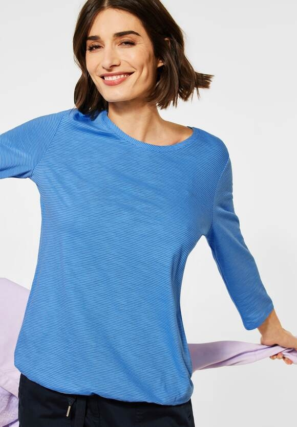 Cecil | Shirt mit 3/4-Ärmeln | Farbe: provence blue 22865, 315786