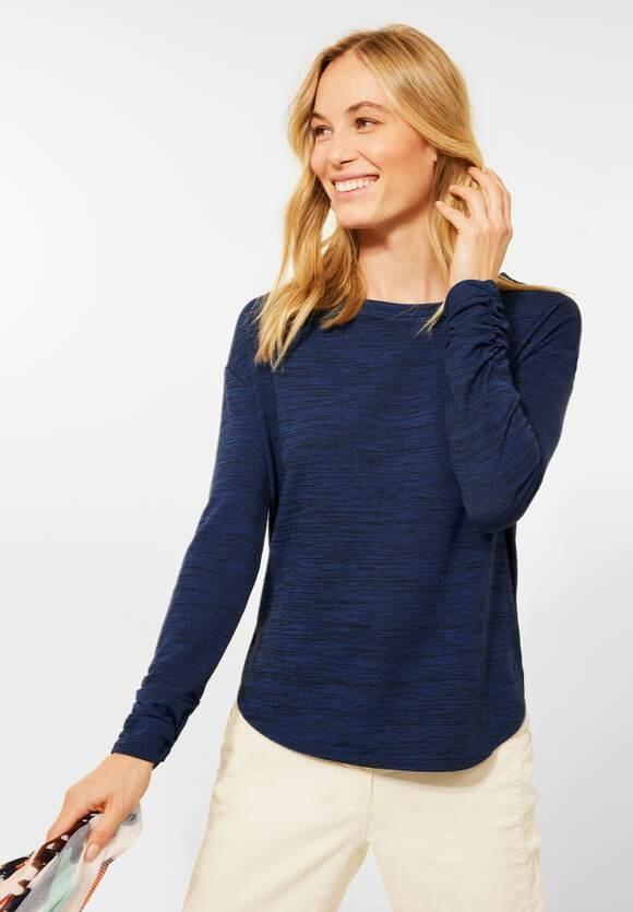 CECIL | Shirt in Melange Optik | Farbe: deep blue melange 10157, 317024