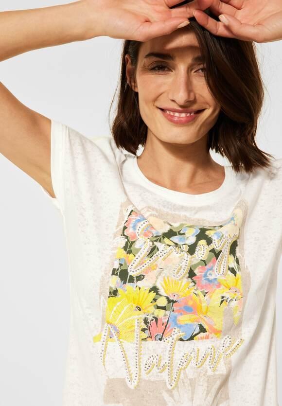 Cecil | T-Shirt mit Print | Farbe: pure off white 30125, 316227