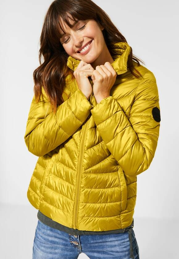 Cecil | Sportive Stepp-Jacke | Farbe: amber glow gold 12222, 201468