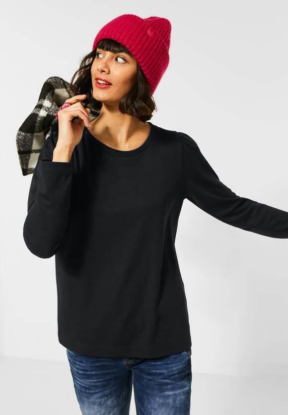 Street One   Shirt mit Puffärmeln   Farbe: black 10001, 315619