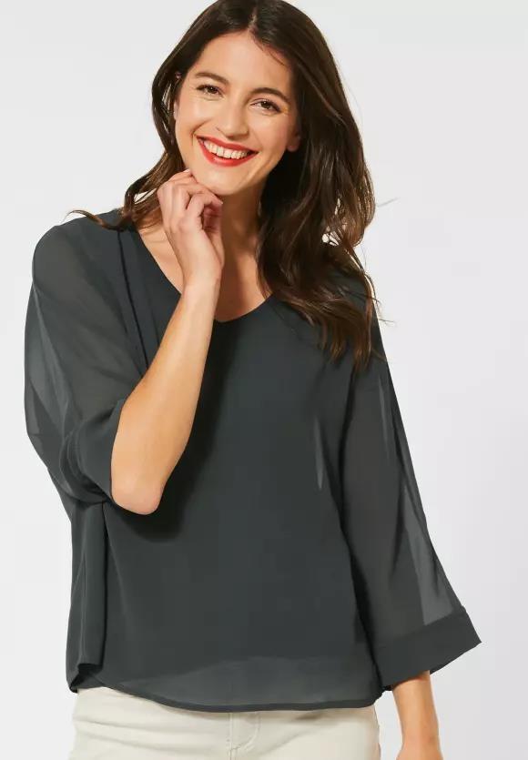 Street One   Chiffon-Shirt im Layer-Look   Farbe: comfort green 12283, 315021