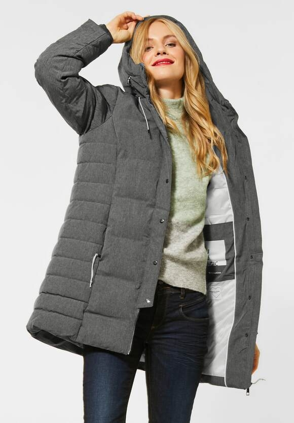 Street One | Mantel mit moderner Steppung | Farbe: frost grey mel 11119, 201514