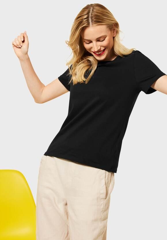 Street One   Basic T-Shirt   Farbe: black 10001, 316011