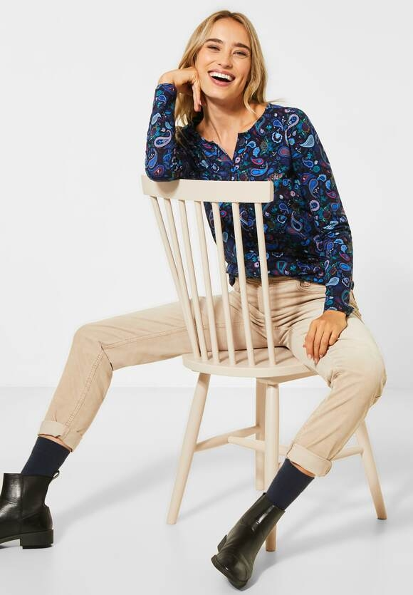 Cecil | Shirt mit Paisley-Muster | Farbe: deep blue 30128, 315482