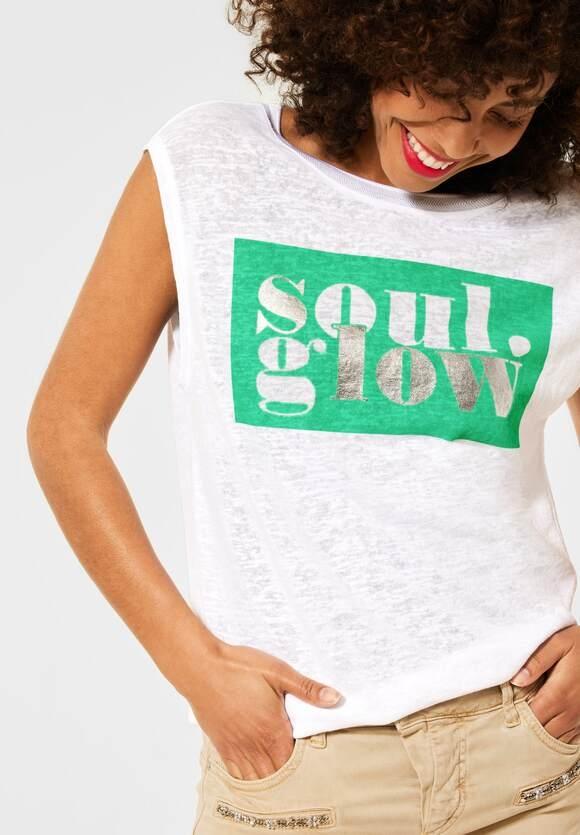 Street One | T-Shirt mit Partprint | Farbe: White 30000, 316261