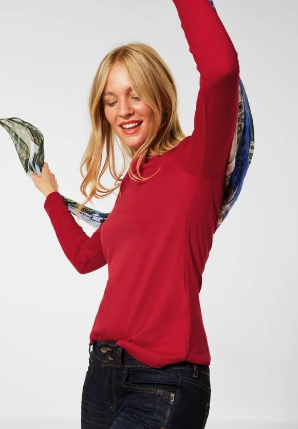 "Street One | Shirt ""Lanea"" in Unifarbe | Farbe: full red 13319, 316885"