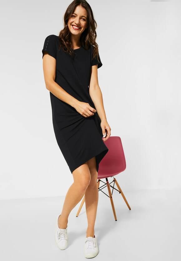 Street One   Jerseykleid mit Nietendetail   Farbe: black 10001, 142737