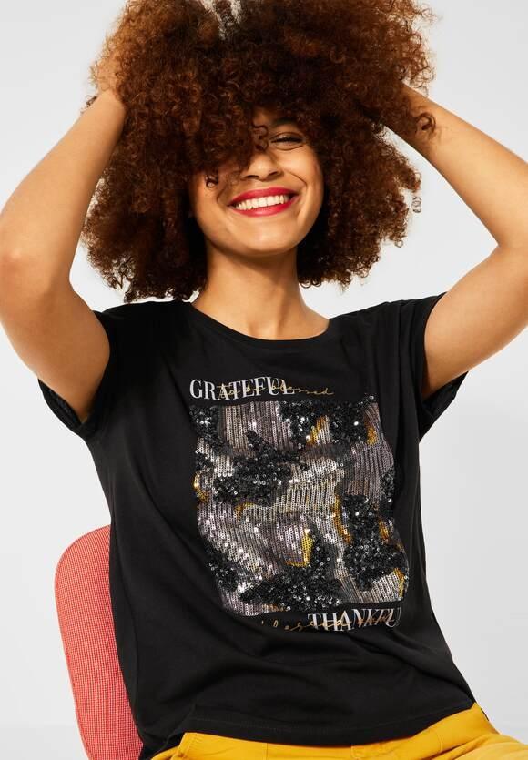 Street One | T-Shirt mit Partprint | Farbe: black 30001, 316797