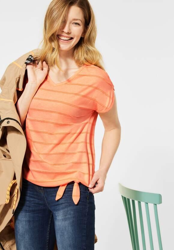Cecil   Shirt mit Burn-Out Effekt   Farbe: neon cantaloupe orange 12297, 316060