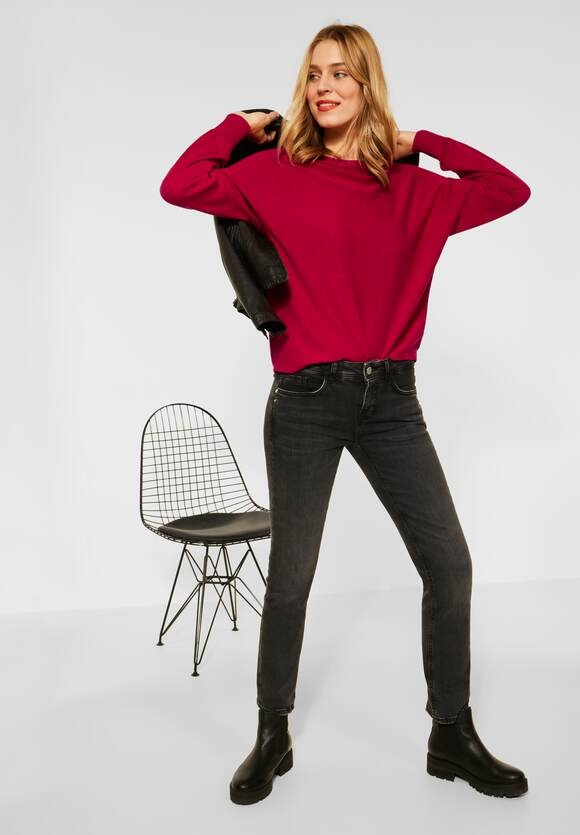 """Street One   Pullover """"Noreen"""" in Unifarbe   Farbe: full red 13319, 301559"""