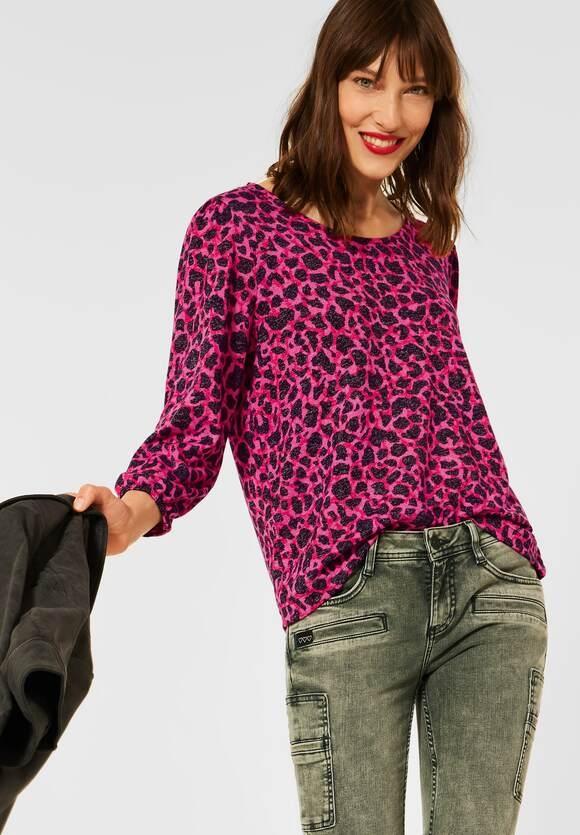 Street One   Shirt mit Leo Print   Farbe: full red 33319, 316920