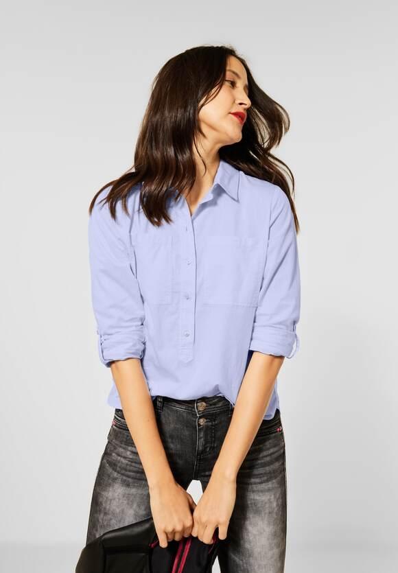 Street One   Chambray-Bluse mit Kragen   Farbe: original blue 12289, 342420