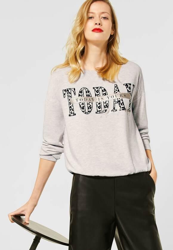 Street One | Melange-Shirt mit Print | Farbe: savannah sand mel 32732, 315768