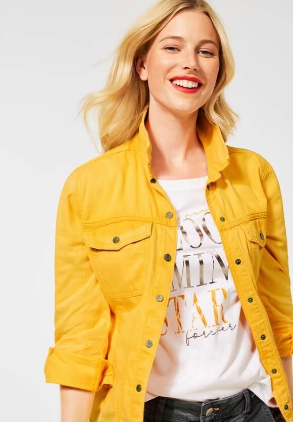 Street One   Overshirt in Denim Optik   Farbe: bright sulphur yellow washed 13334, 211420