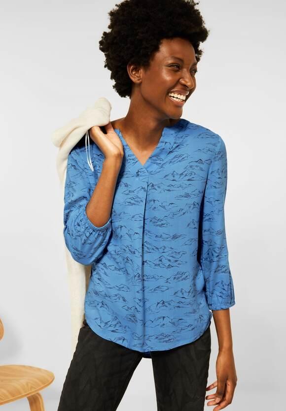 CECIL   Mountain Print Bluse   Farbe: mountain blue 23005, 342878