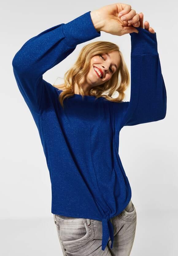 Street One | Softes Shirt mit Knoten | Farbe: cobalt blue mel 12685, 315621
