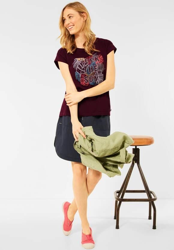 Cecil | T-Shirt mit Print | Farbe: red grape 33133, 316467