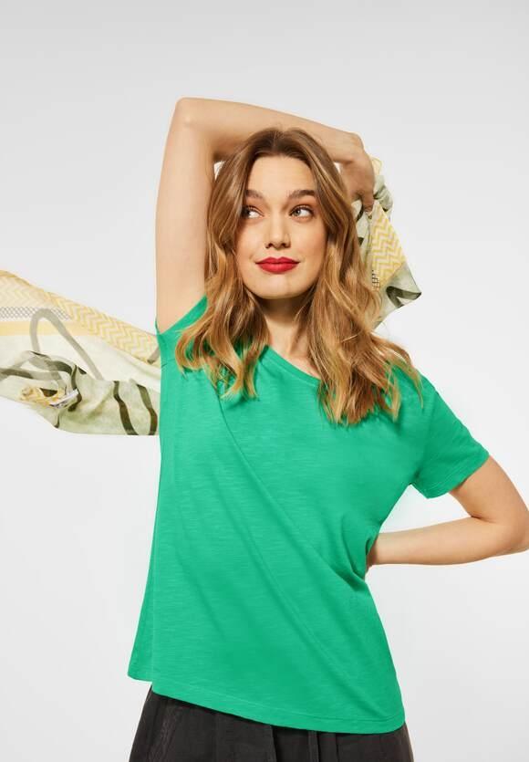 "Street One | Cosy T-Shirt ""Gerda"" | Farbe: yucca green 12982, 316184"