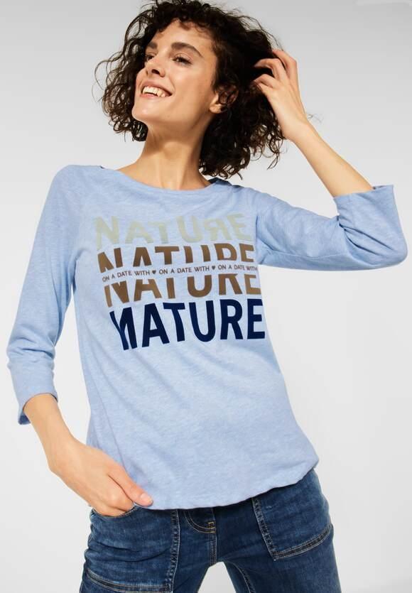 CECIL   Raglan Shirt mit Fotoprint   Farbe: light blue melange 32356, 316933
