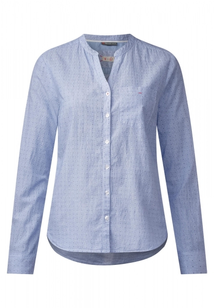 3be2e17f90cfc7 Street One | Bluse mit Pünktchen | Farbe: sailing blue 20763, 340752 ...