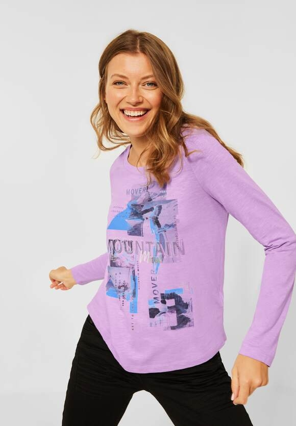 CECIL | Shirt mit Fotoprint | Farbe: frosty violet 33437, 317017