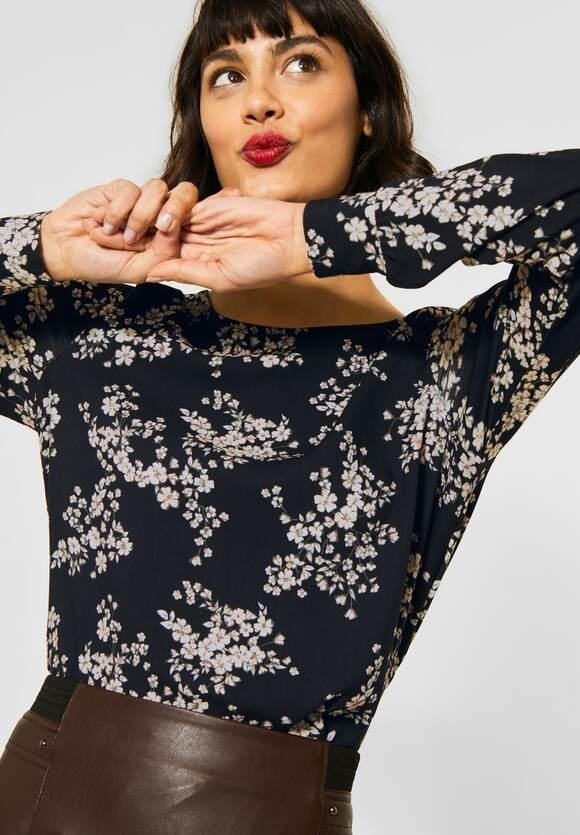 Street One | Shirt mit Blumenmuster | Farbe: black 30001, 315665