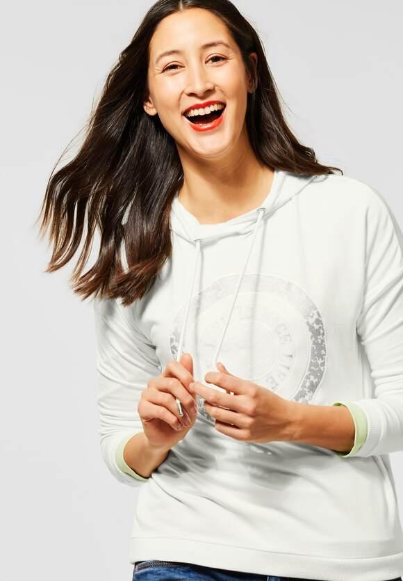 Street One | Hoodie-Shirt mit Kapuze | Farbe: off white 20108, 315838