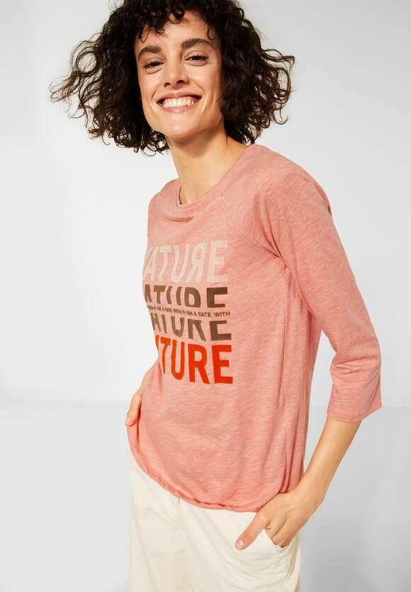 CECIL   Raglan Shirt mit Fotoprint   Farbe: paprika orange melange 33377, 316933