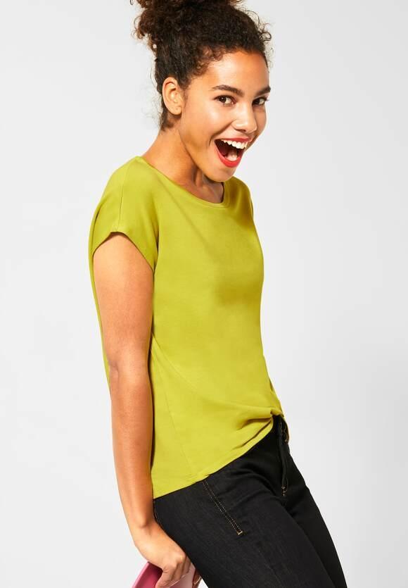 Street One | T-Shirt im Basic Style | Farbe: apple green 12438, 315177