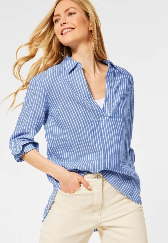 Cecil   Leinen Bluse mit Streifen   Farbe: blouse blue 21838, 342453