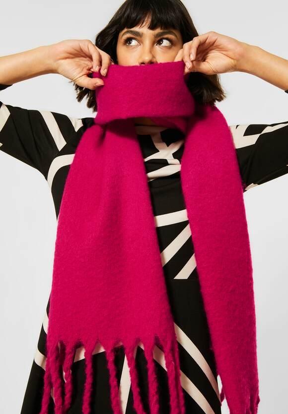 Street One | Schal mit Fransen | Farbe: raspberry pink 12682, 571383