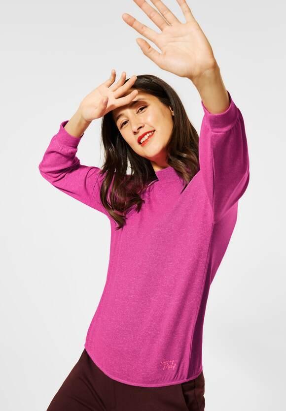 Street One   Shirt mit Stehkragen   Farbe: phlox pink melange 12775, 315813
