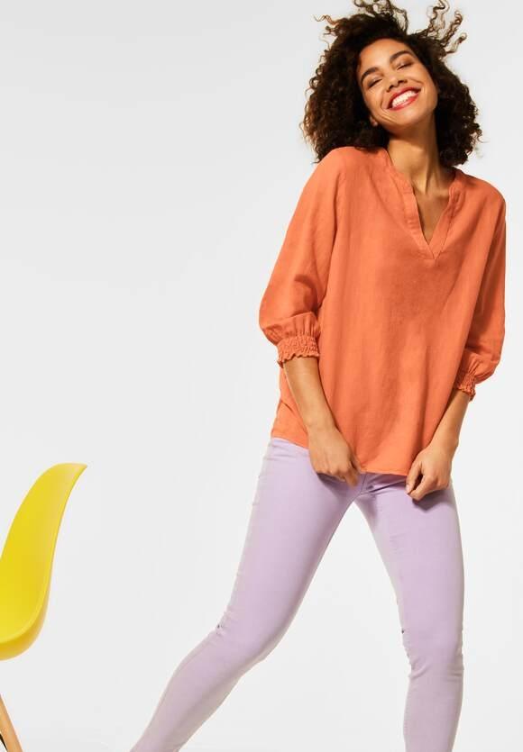 Street One   Bluse mit Smok Details   Farbe: tender peach 12743, 342510