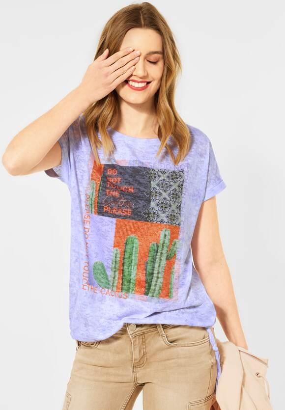 Street One | T-Shirt mit Fotoprint | Farbe: clear lilac 32898, 316074