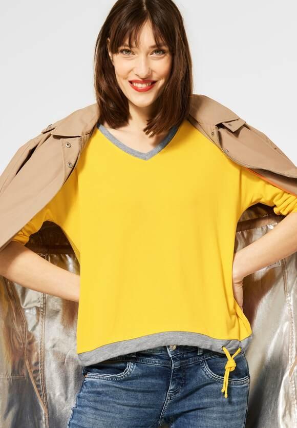 Street One | Shirt mit V-Ausschnitt | Farbe: sunlit yellow 12904, 316041