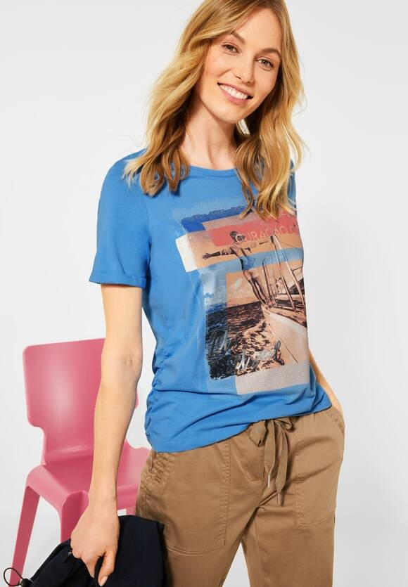 Cecil   T-Shirt mit Sail-Print   Farbe: provence blue 32865, 316063