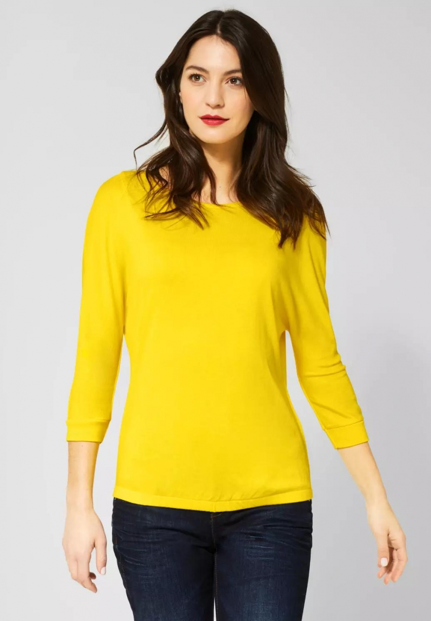 Street One | Shirt mit Fledermausärmeln | Farbe: shiny yellow 12201, 314644