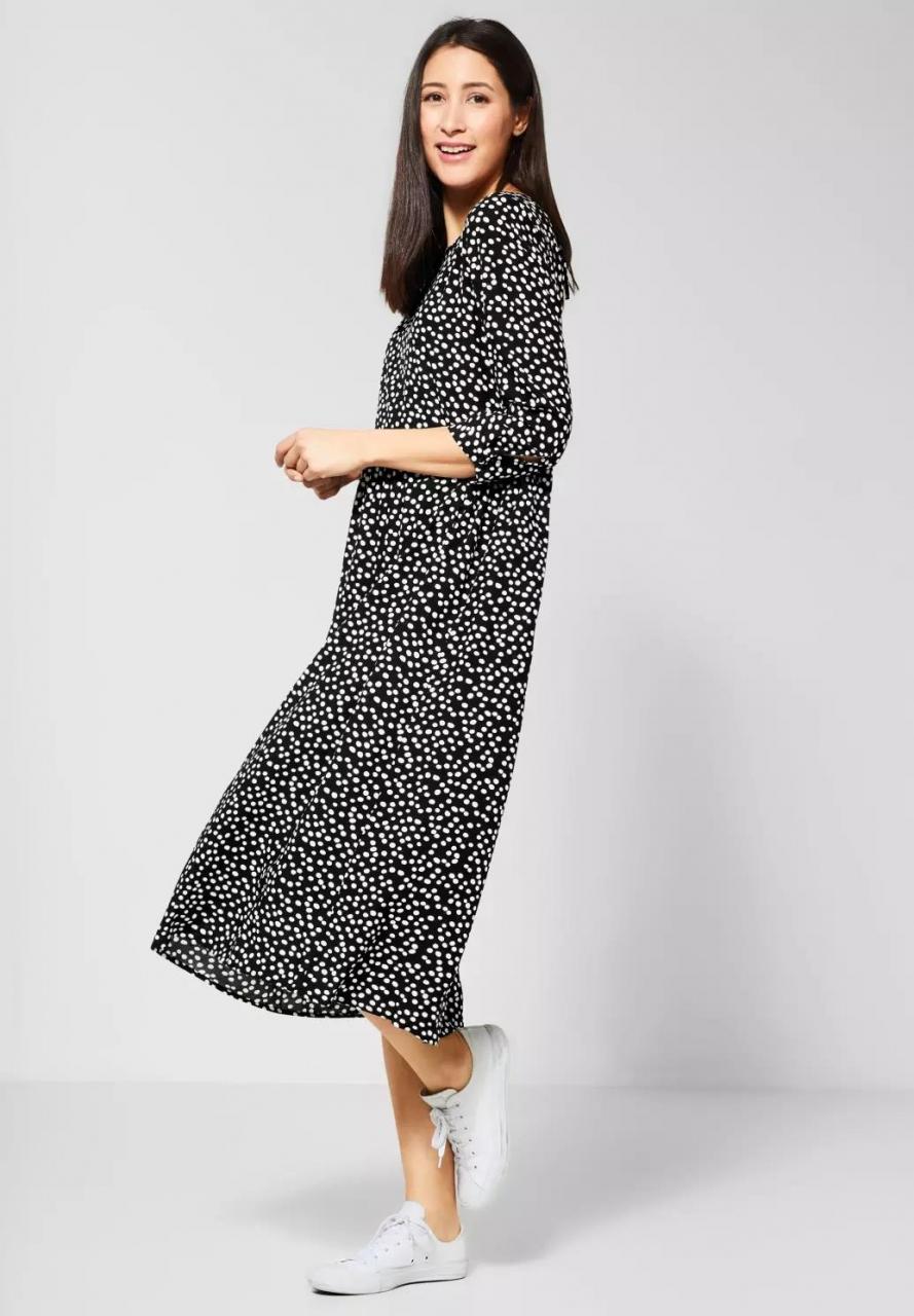 Street One   Midi Kleid mit Muster   Farbe: black 20001, 142598