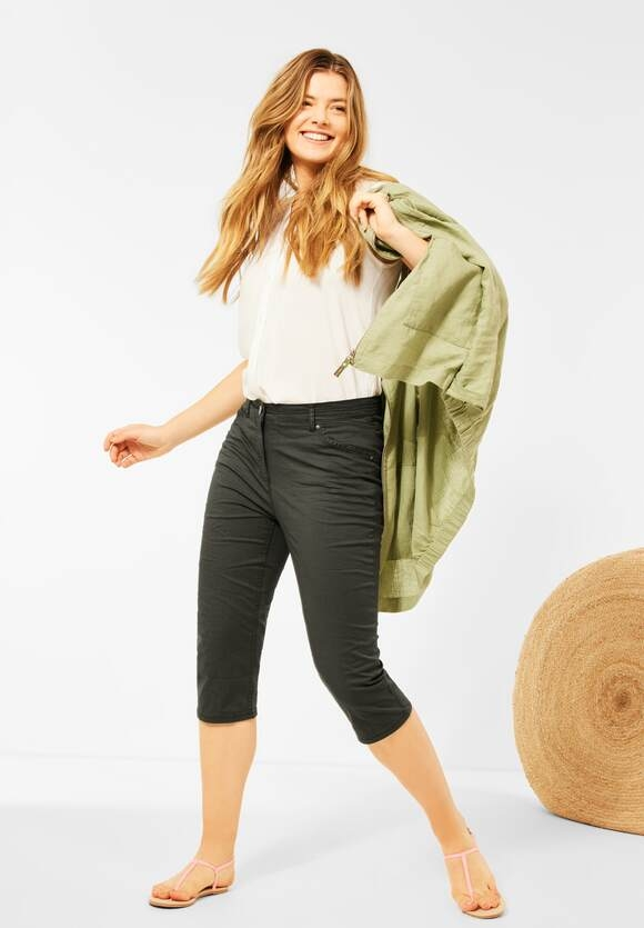 """Cecil   Slim Fit Hose """"Vicky"""" in High Waist   Farbe: utility olive13036, 374196"""