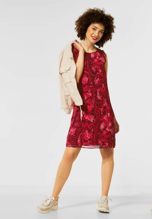 Street One   Kleid mit Smok Details   Farbe: spice red 33053, 142950