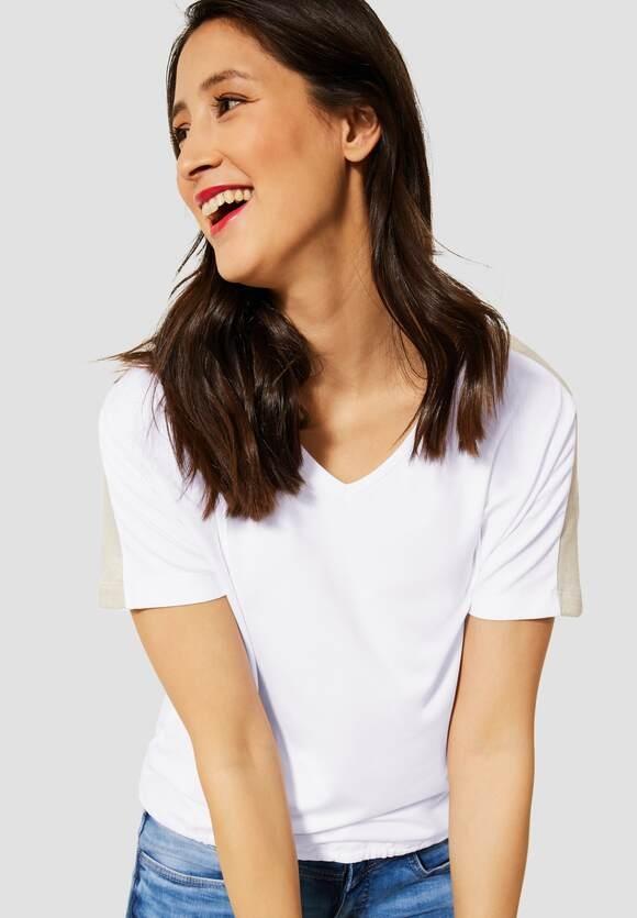 Street One | T-Shirt mit Tunnelzugband | Farbe: white 10000, 316201