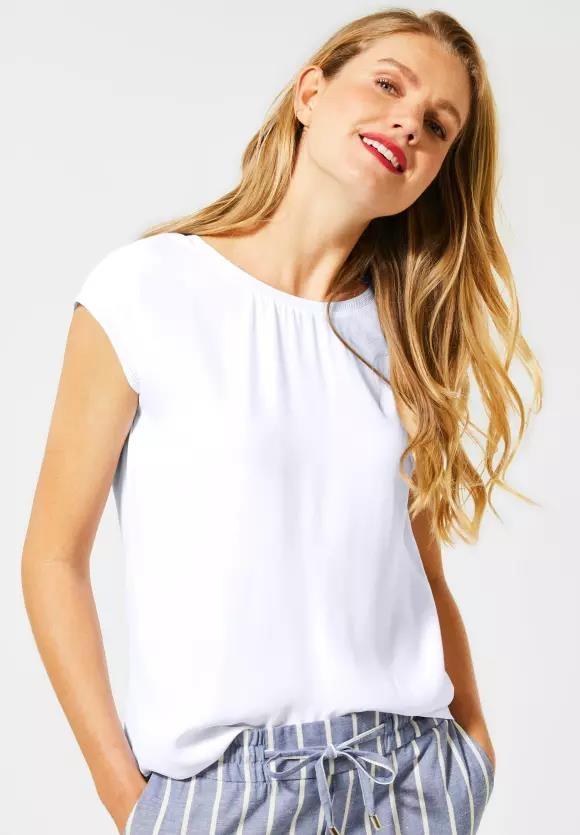 Street One | T-Shirt im Basic Style | Farbe: white 10000, 315090