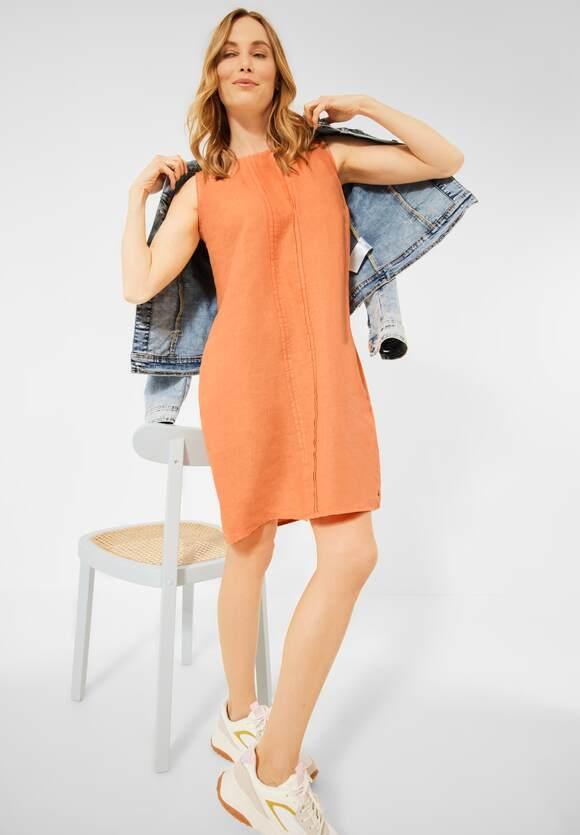 Cecil | Leinen Kleid in Unifarbe | Farbe: soft cantaloupe orange 12736, 142856